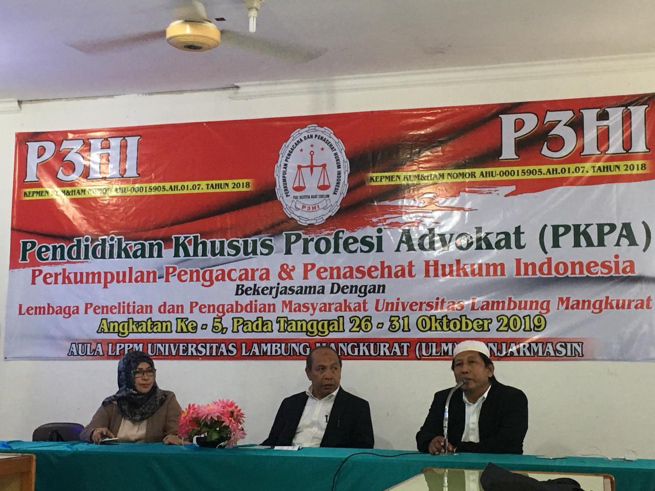 Organisasi Advokat P3HI Laksanakan PKPA di Universitas Lambung Mangkurat Banjarmasin