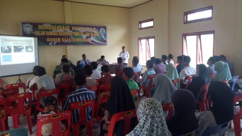 Lestarikan Ikan Laut, Satgas TMMD Ke 106 Tahun 2019 Sosialisasi Perikanan