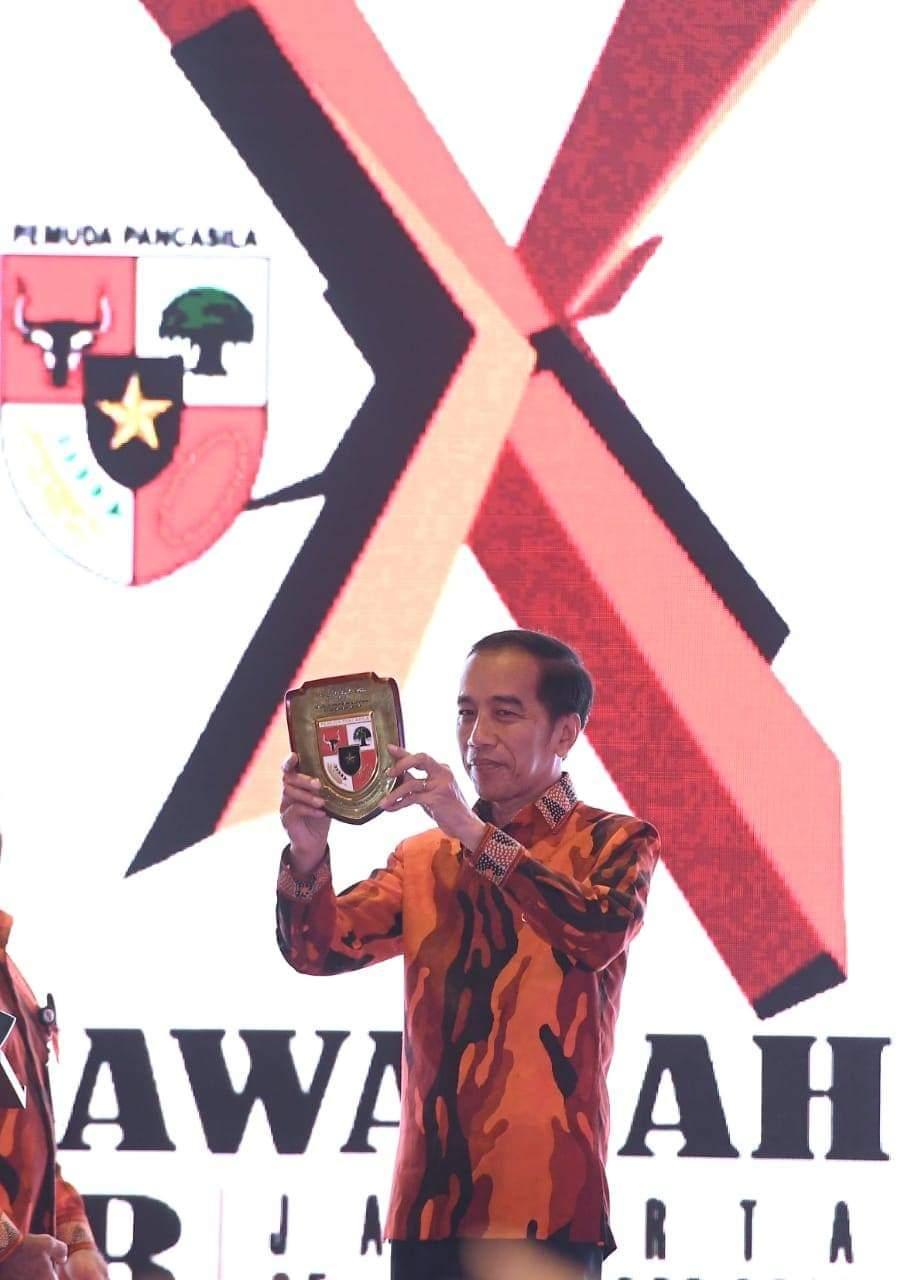 Resmikan Mubes X Pemuda Pancasila, Presiden Jokowi: Terus Jaga Pancasila