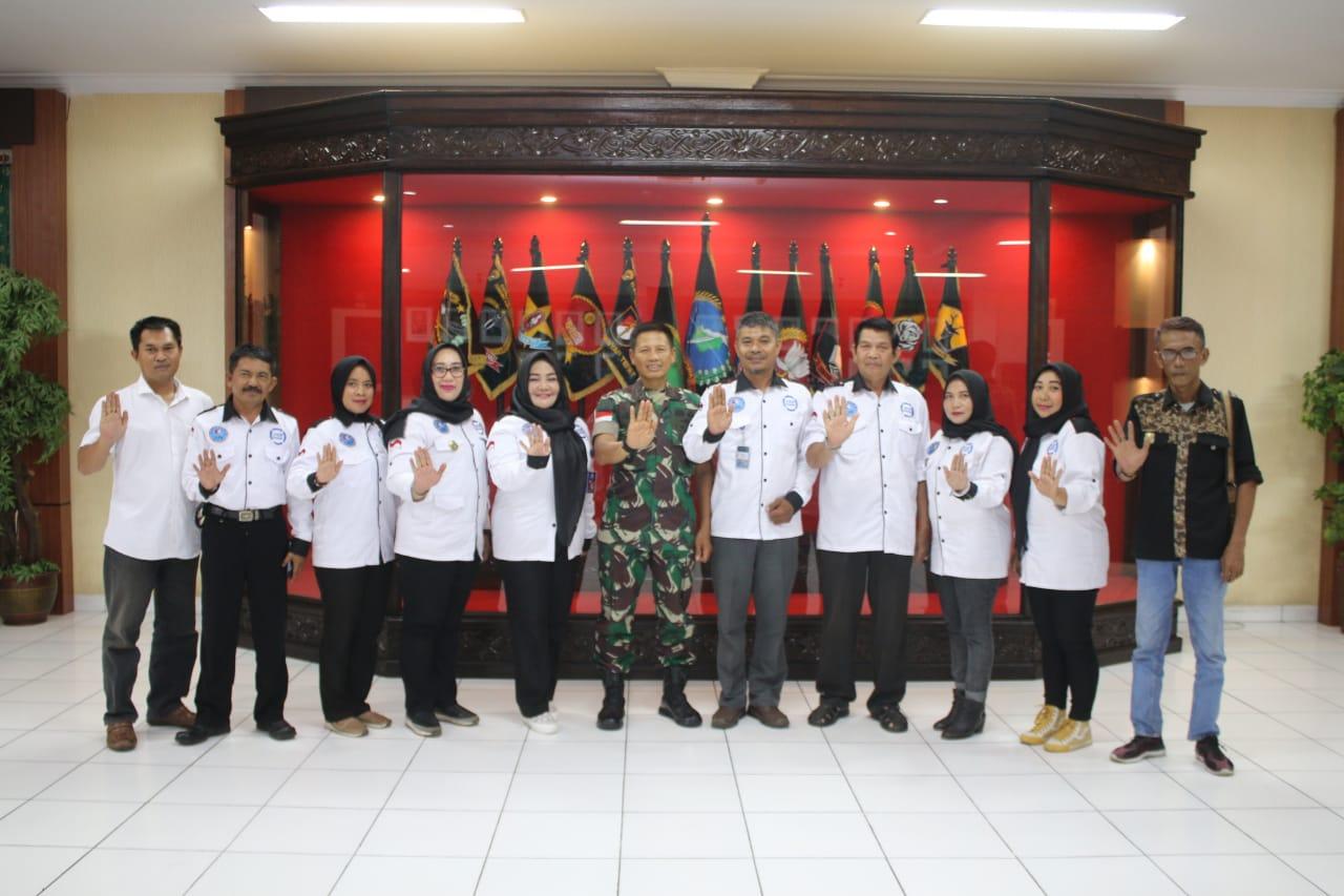 Jalin Kerjasama, Pangdam XII/Tpr Terima Kunjungan Pengurus LAN Kalbar