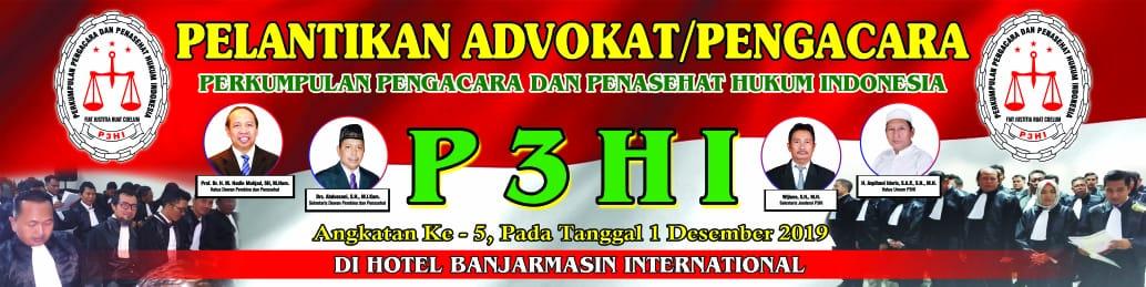 P3HI Kalsel Laksanakan Pelantikan Advokat Angkatan ke-5