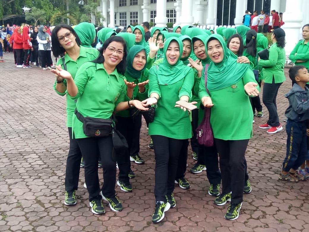 Dandim 0208/Asahan : Sinergi Tiga Pilar Asahan, Sukseskan Gerak Jalan Santai Peringati Hari Ibu
