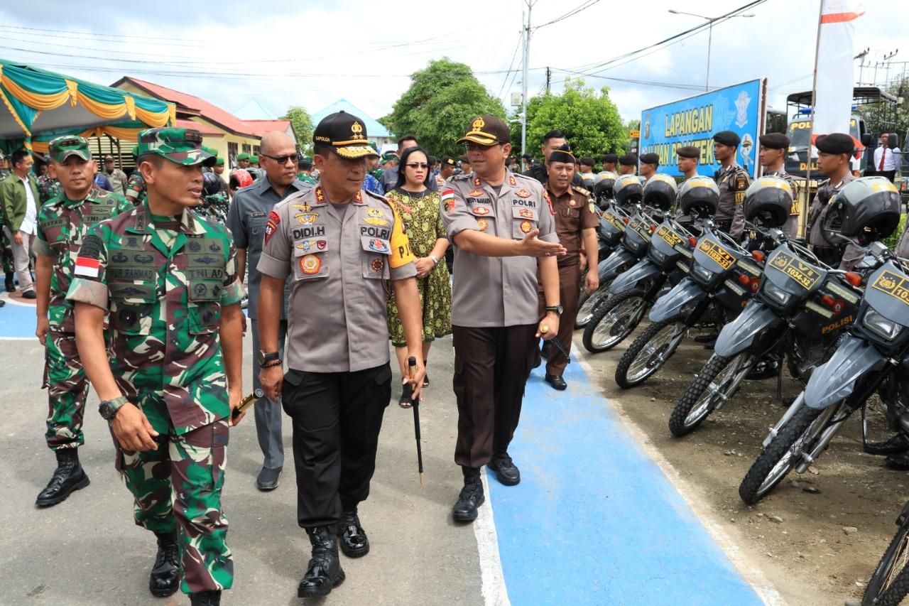 Pangdam dan Kapolda Cek Kesiapan Pengamanan Pilkada Serentak Kapuas Hulu