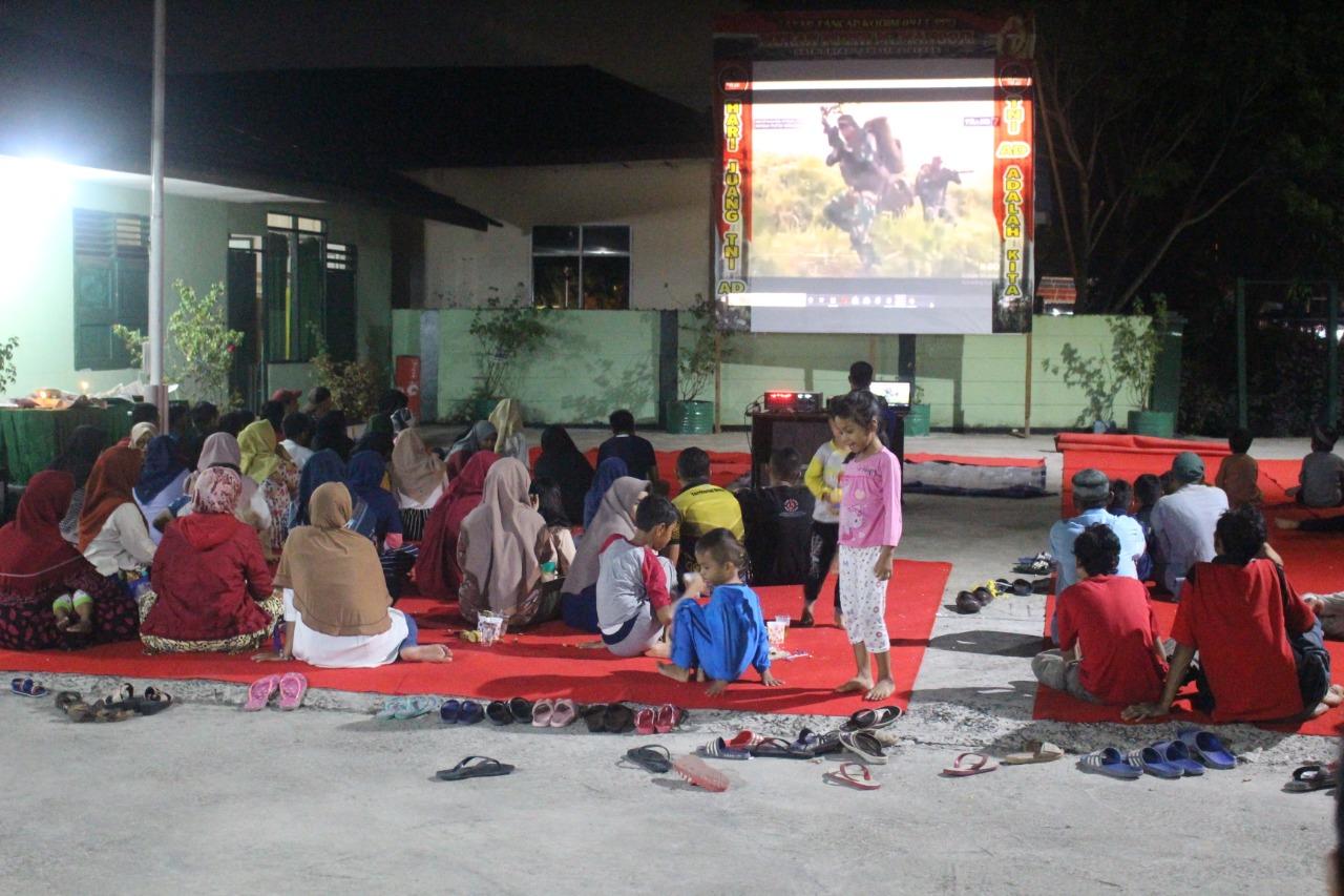 Tumbuhkan rasa dan semangat Nasionalisme,Kodim 0913/PPU gelar Nobar Film Merah Putih Memanggil