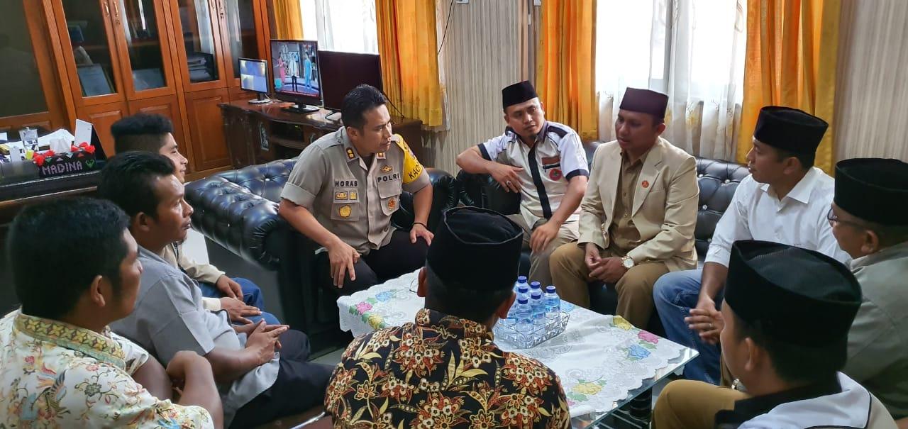 Audiensi Dengan Pemuda Muhammadiyah, Kapolres Madina Sampaikan Pesan Kamtibmas