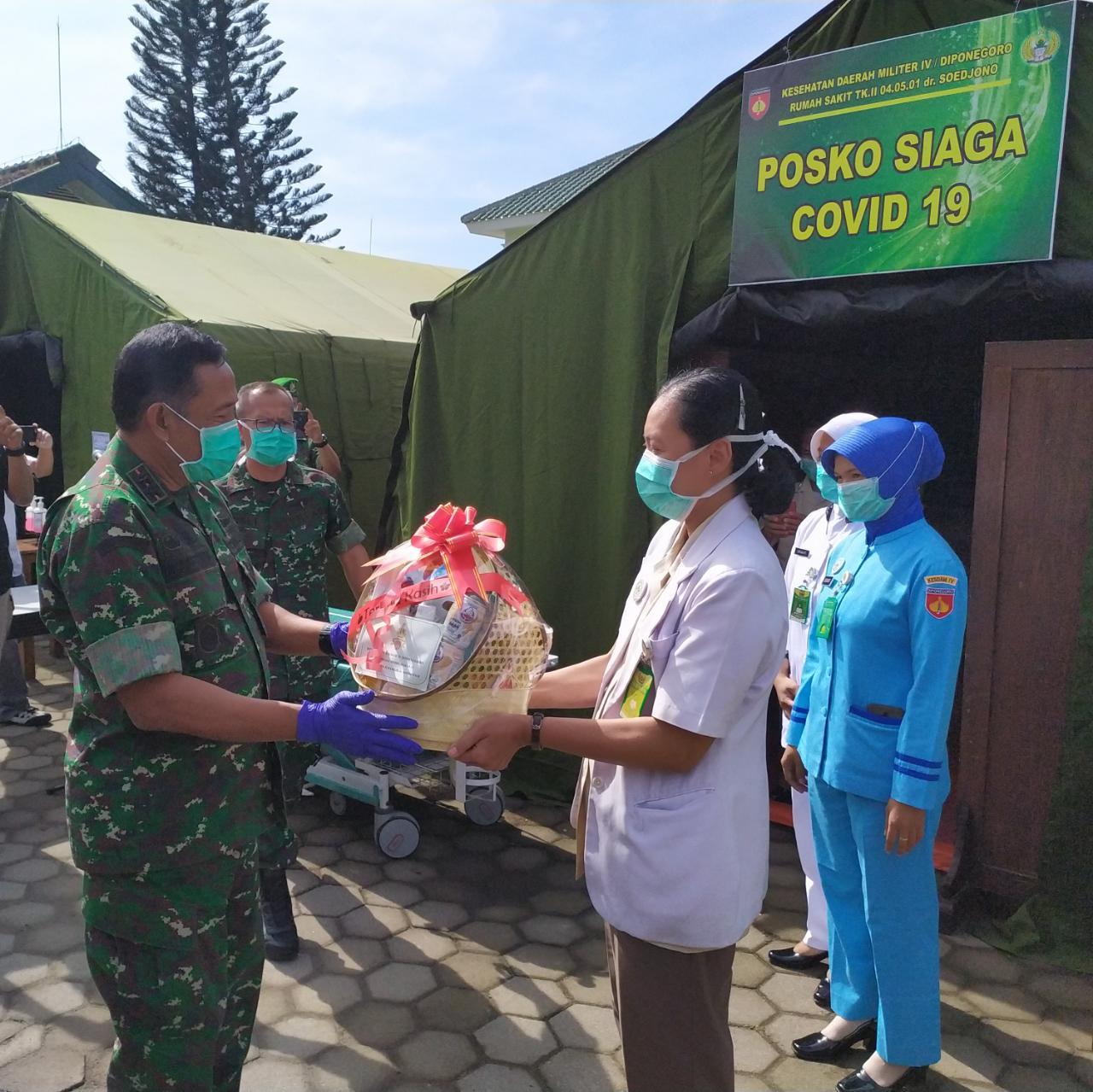 Petugas Medis RST Magelang Dapat SuportDari Pangdam IV