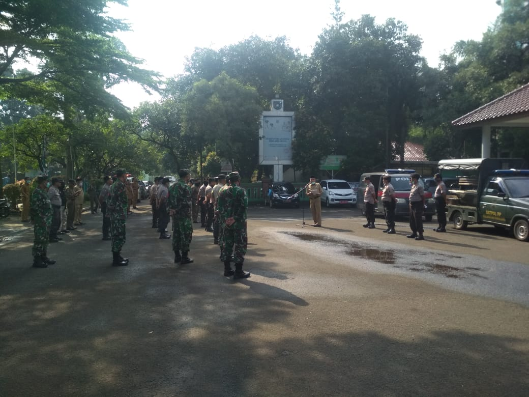 Sosialisasi Pencegahan Corona di Pamulang Oleh Anggota Koramil 05/Ciputat