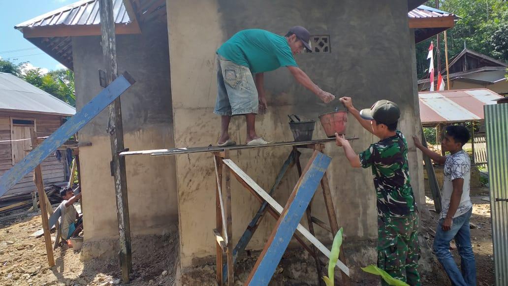 TNI-Rakyat Kompak Di Lokasi TMMD ke-107
