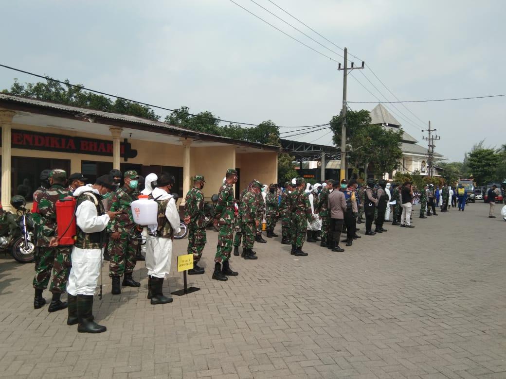 Apel Gabungan 3 Pilar Dari TNI, Polri, Tim Gugus Covid-19 Dan BPBD Jawa Timur
