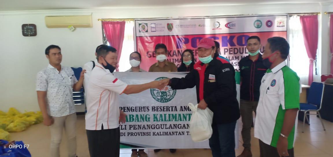 Gerakan Peduli Buruh Bersama APINDO Dan GAPKI Kalteng