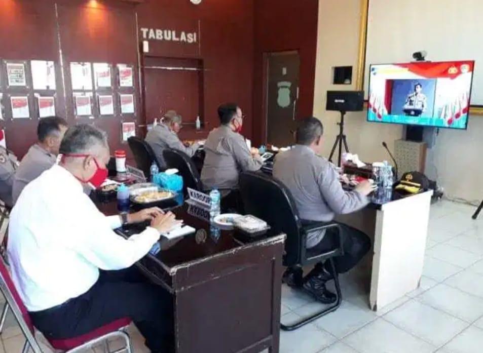 Dalam Rangka Musrenbang Polri Tahun 2020, Polda Kalteng Ikut Sistim Vicon