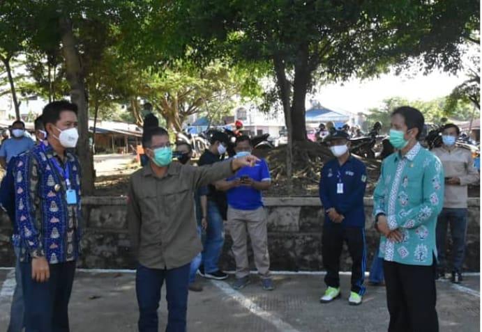 Pasar PBB Kabupaten Barito Utara Berlakukan Protokol Covid-19