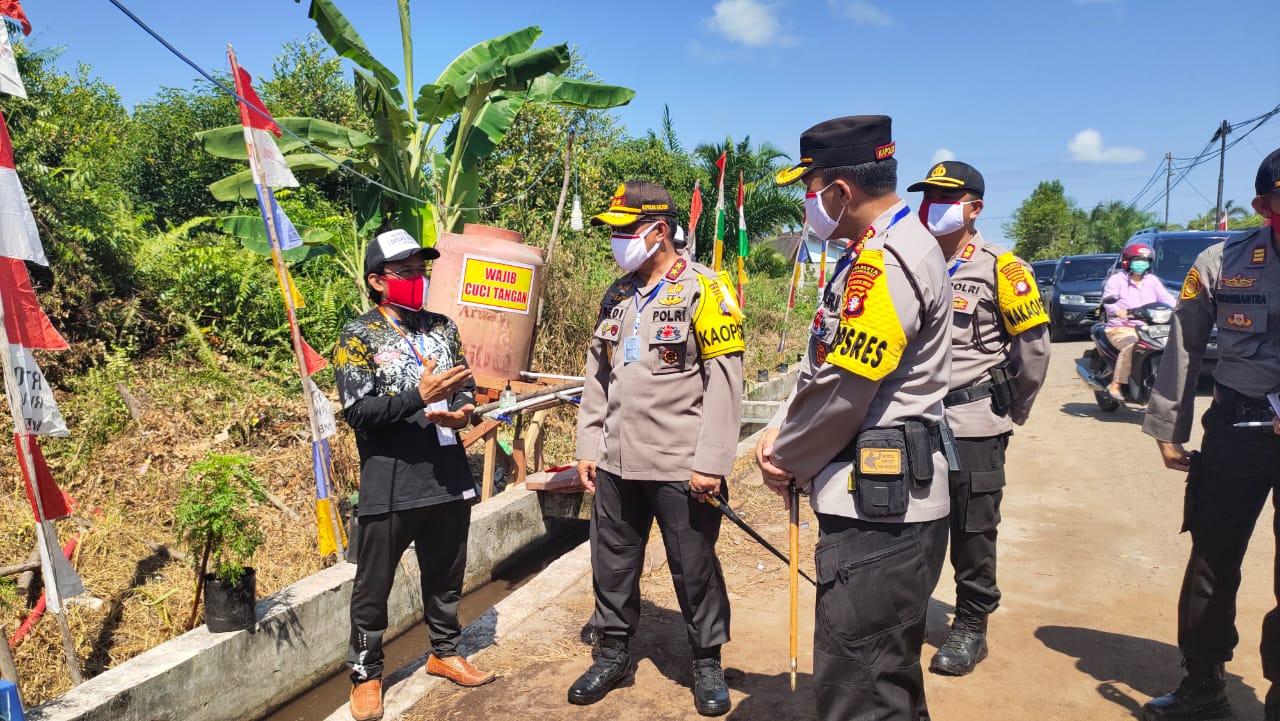 Kapolda Kalteng Bantu Ketua RT 06, Binaan Polsek Pahandut