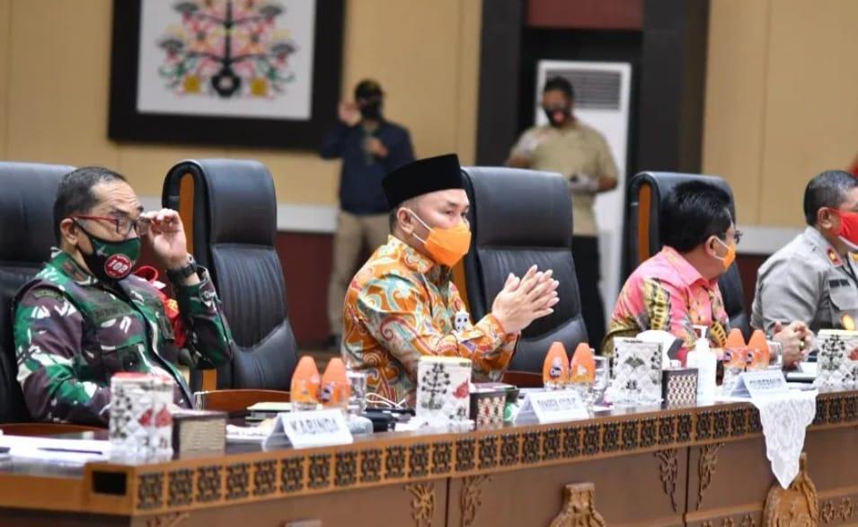 H.Sugianto Sabran Pimpin Rakor Pembangunan Kalteng