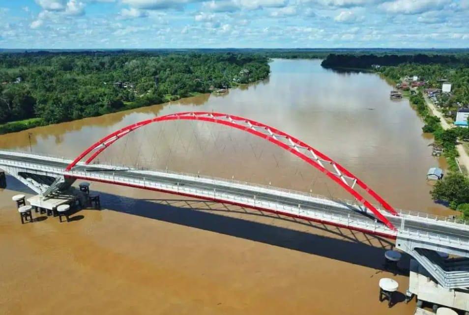 Jembatan Tumbang Samba, Siap Diresmikan, Dukung Ekonomi