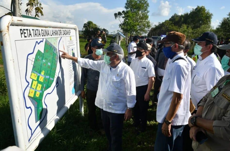 Lokasi Food Estafe Di Kapuas Dikunjungi Menteri PUPR RI.