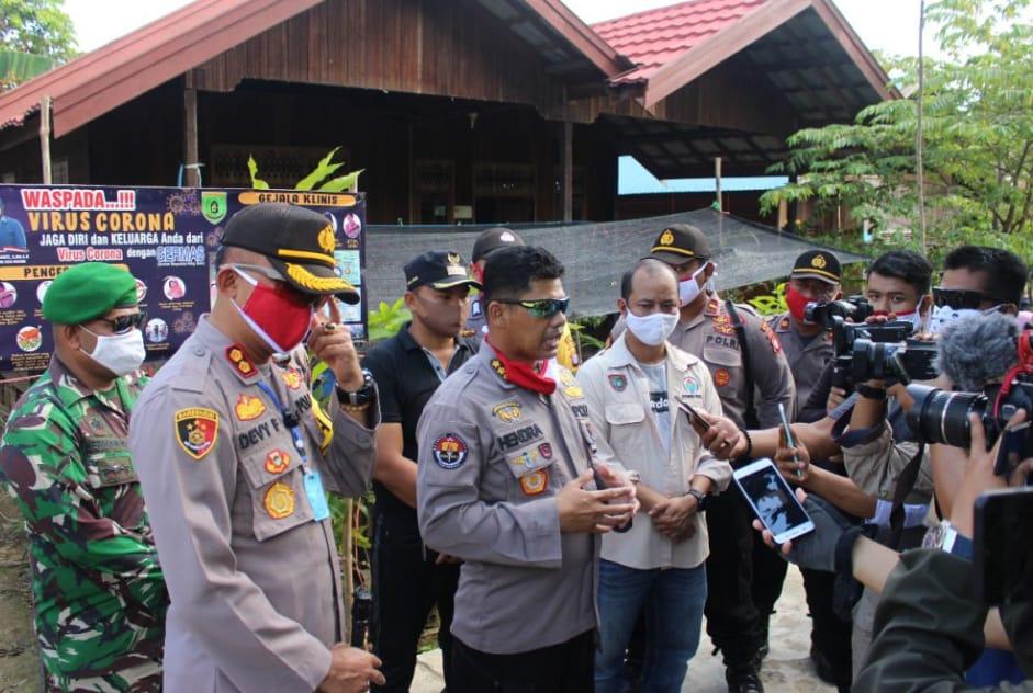 Kunker Kabidhumas Polda Kalteng, Ke Polres Barito Selatan.