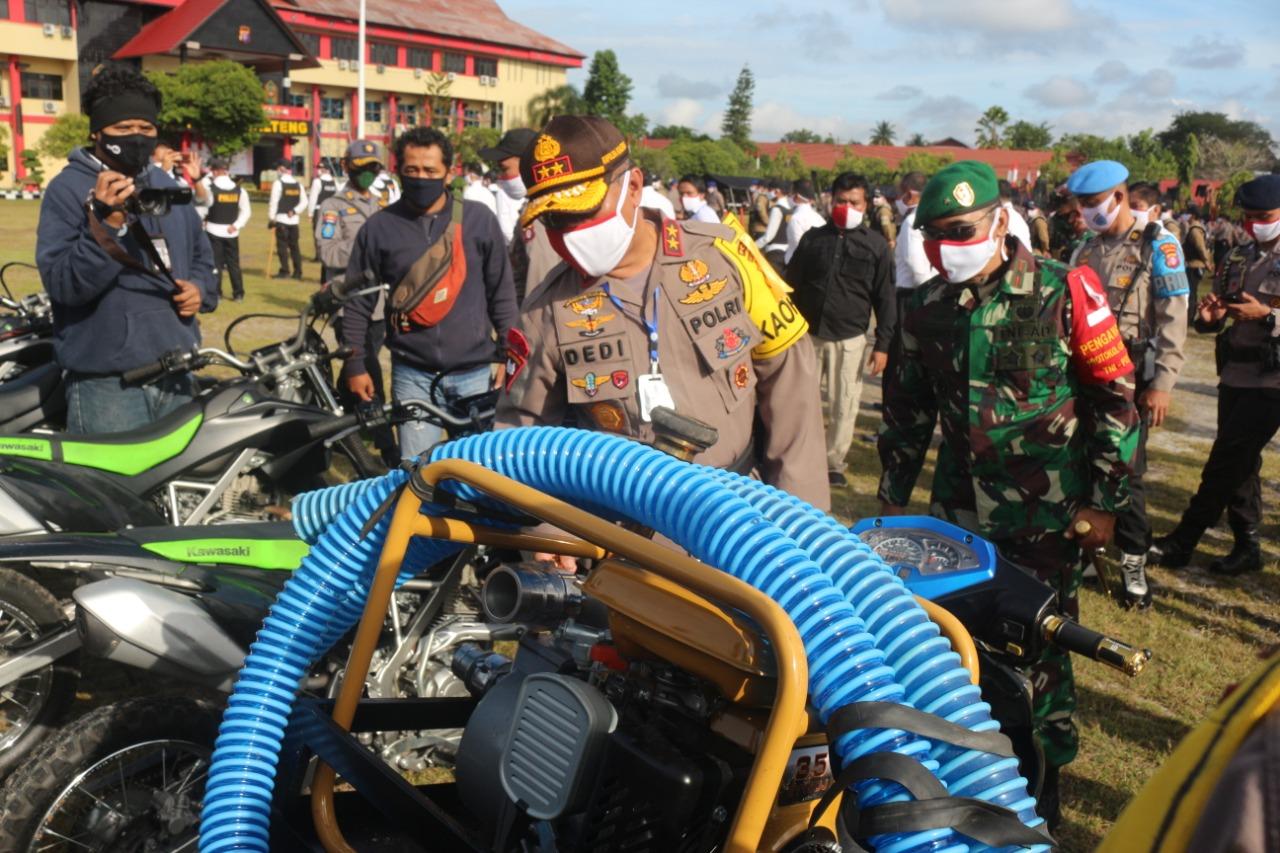 Polda Kalteng Dan TNI Apel Bersama Siap Tanggulangi Karhutla