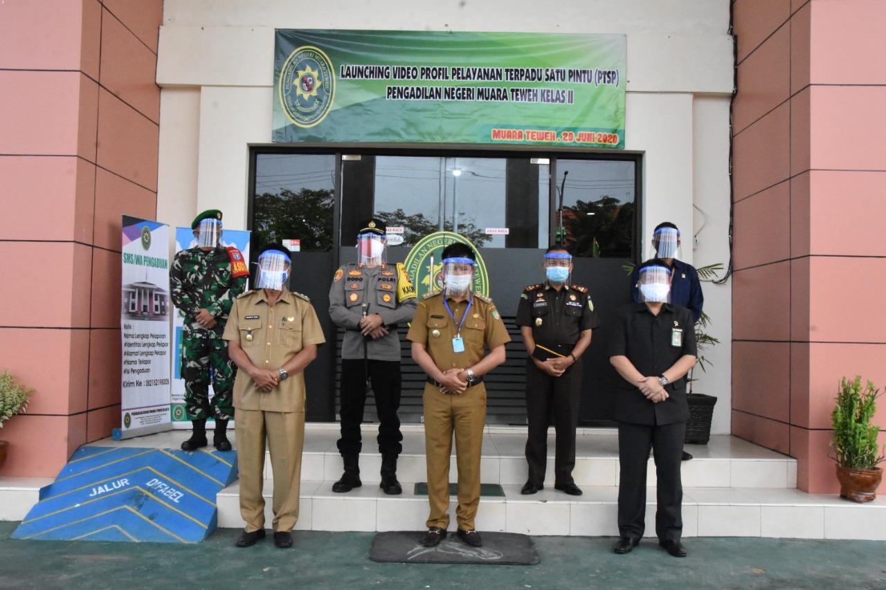 Pengadilan Negeri Muara Teweh Launcing Video Profil PTSP.