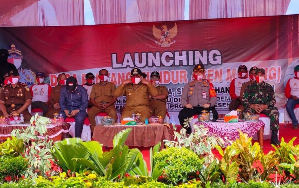 Launching Lewu Isen Mulang Bersama Kapolres Dan Forkopimda Pulpis.