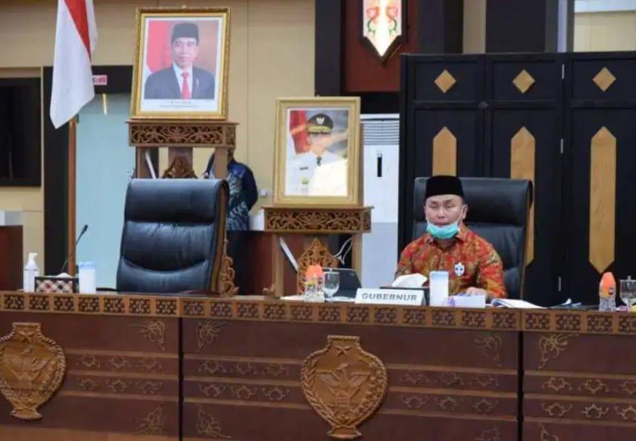 Gubernur Sugianto Sabran Menjadi Narasumber Telabang Talk: Kolaborasi Multistakeholder Kalteng dalam Menanggulangi COVID-19