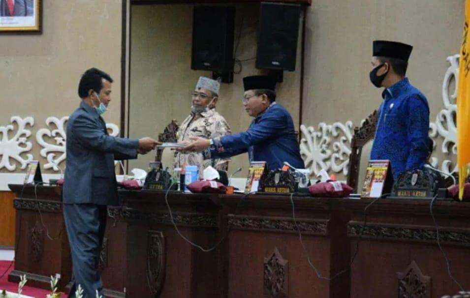 Wagub Kalteng Hadiri Rapat Paripurna Rapat Umum Fraksi Atas Raperda Pertanggungjawaban APBD 2019