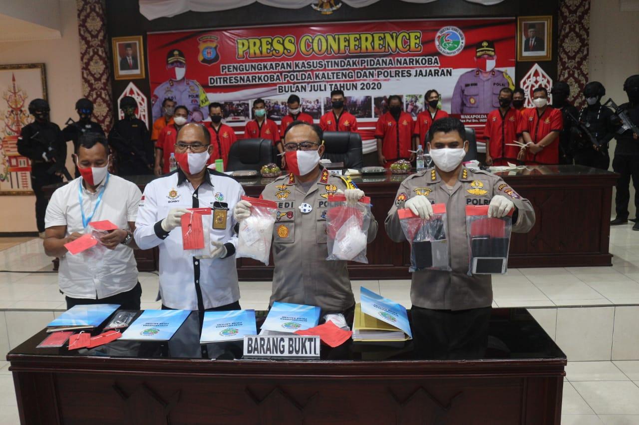 Luar Biasa Sepekan Basmi Narkoba Di Wilayah Hukum Polda Kalteng