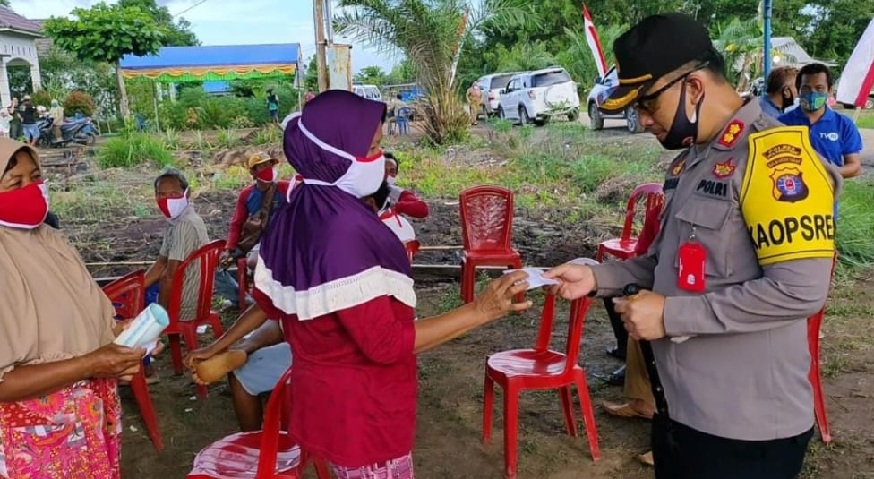 Kapolres Pulpis Pantau Rapid Tes Desa Belanti Siam