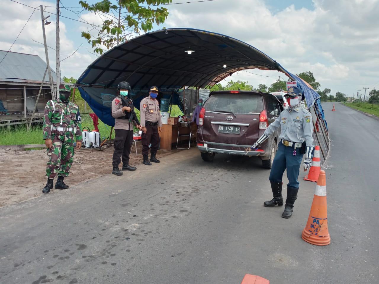 Cegah Penyebaran Covid-19, Posko Libas Kalampangan Perketat Jalur Keluar dan Masuk Kota Palangka Raya