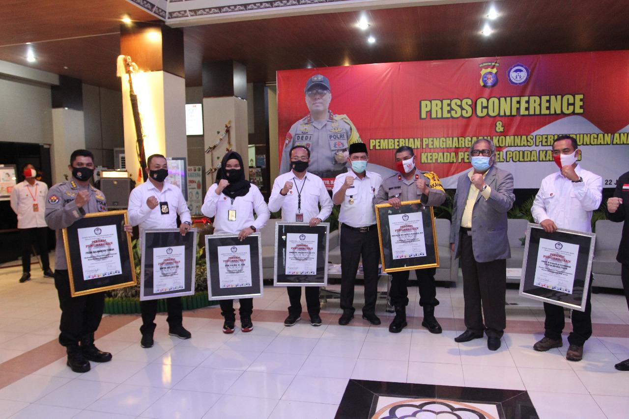 Konferensi Pers, Polda Kalteng Berhasil Ungkap Kasus Persetubuhan Dibawah Umur dan Pelecehan Seksual