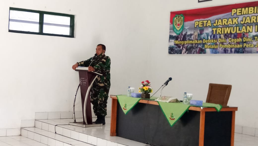 Komandan Kodim 0610/Sumedang Melalui Pasiter Membuka Kegiatan Pembinaan