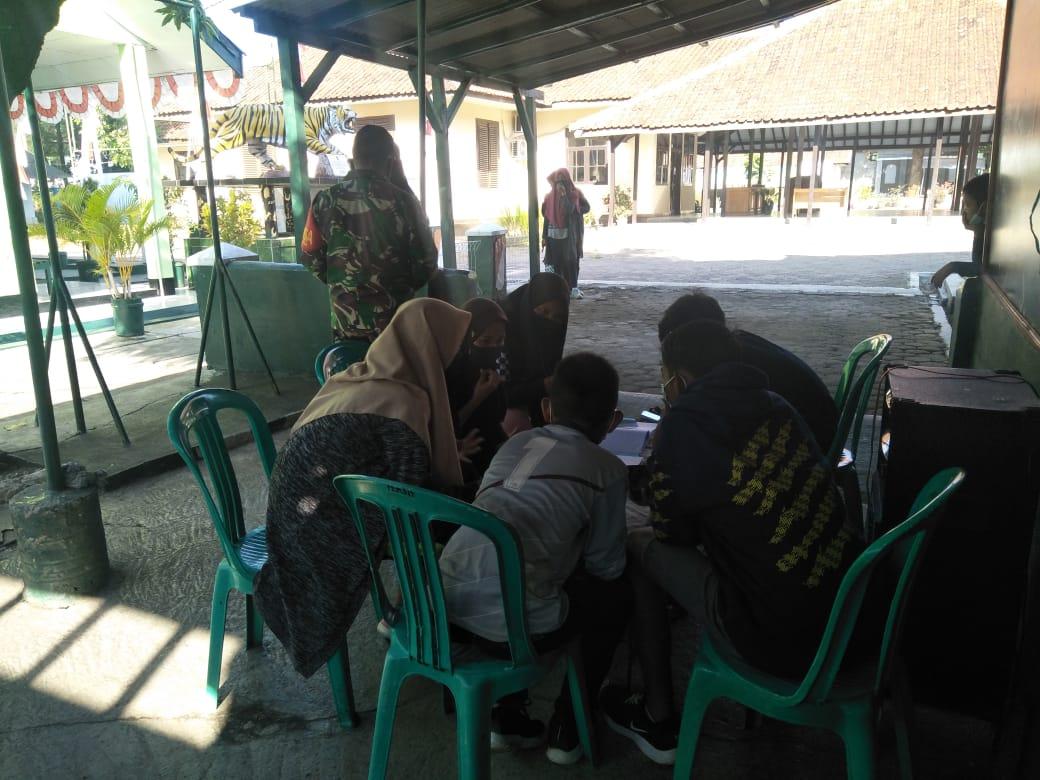 Koramil 1010/Darmaraja Melaksanakan daring Giat Belajar Anak Sekolah