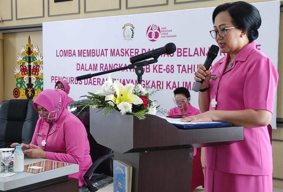 PD Bhayangkari Kalteng Adakan Lomba Membuat Masker Dan Tas Kreaktif Dalam Rangka HKGB ke 68