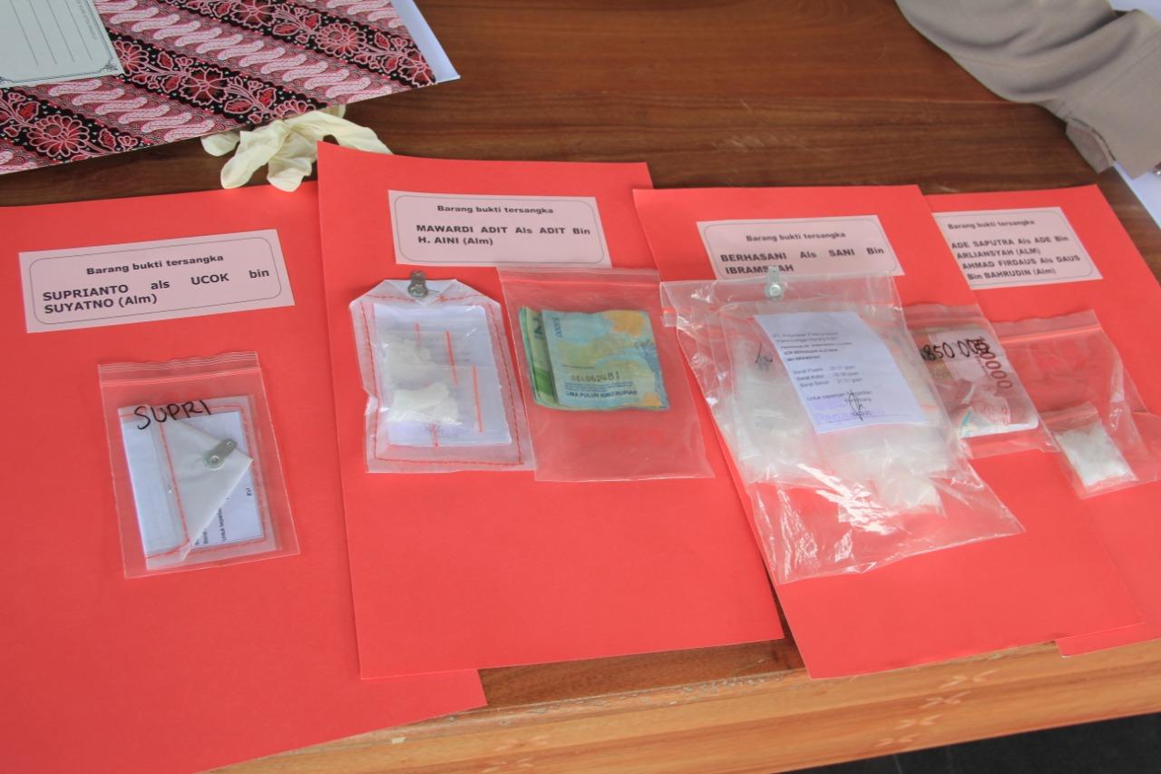 Satresnarkoba Polresta Palangka Raya Berhasil Sita 126 Paket Sabu dalam Kurun Waktu Satu Bulan