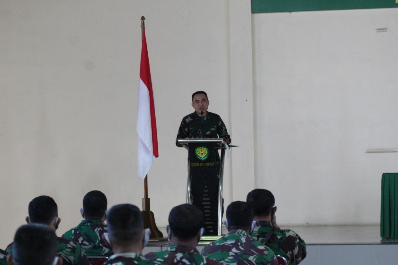 Dandim 0611/Garut Membuka langsung Pelatihan Kader Deradikalisasi Apkowil Di Makodim