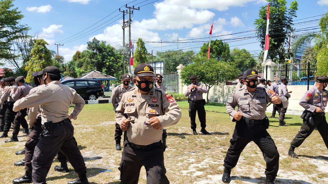 Siap Amankan Pilkada Serentak, Polresta Palangka Raya Rutin Asah Kemampuan Pasukan Dalmas