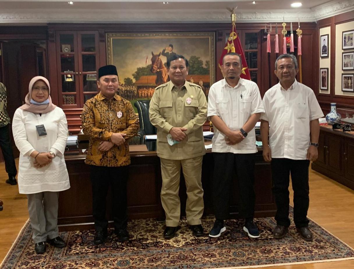 Bahas Pengembangan Pangan Nasional Dan Lokal Gubernur Kalteng Bersama Menhan, Litbang Pertanian Dan Mabes TNI- AD.