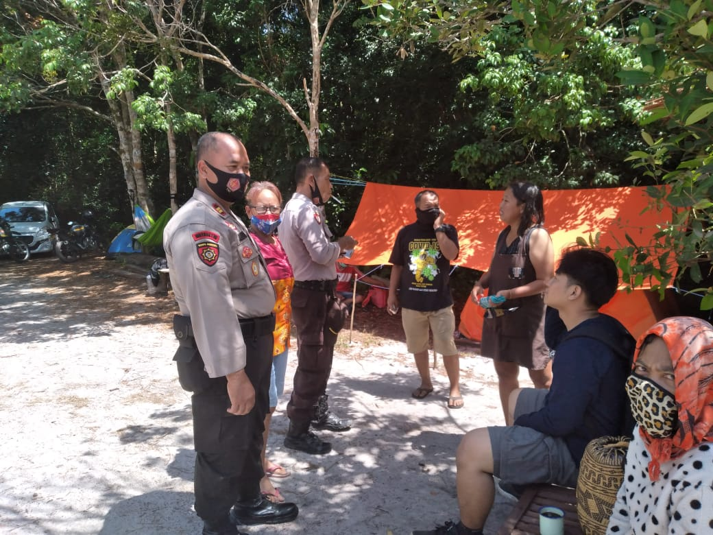 Patroli Obyek Wisata, Kapolsek Bukit Batu Ingatkan Waspada Karhutla dan Covid-19