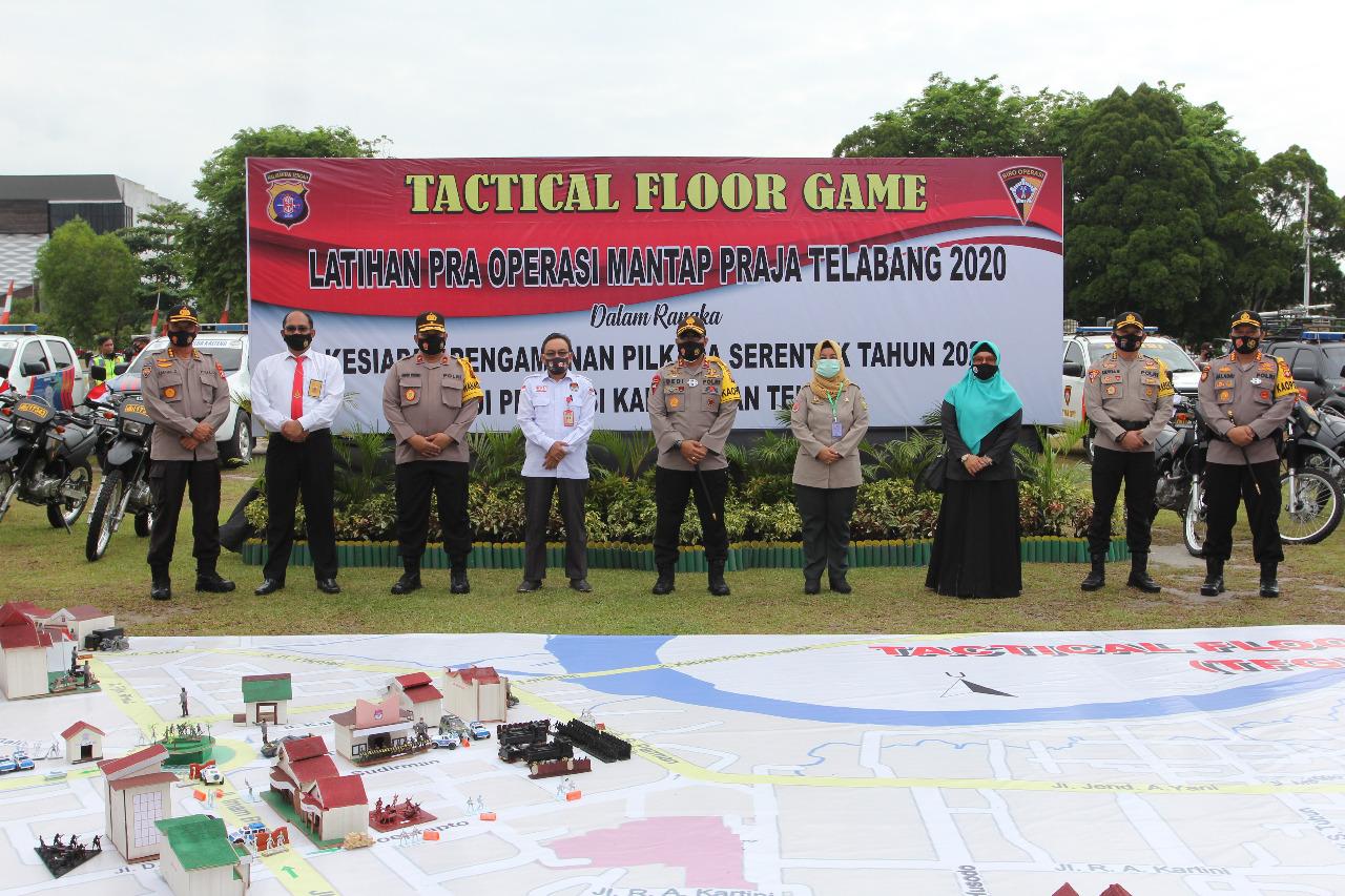 Siap Amankan Pesta Demokrasi, Polda Kalteng Gelar TFG Latihan Pra OMP