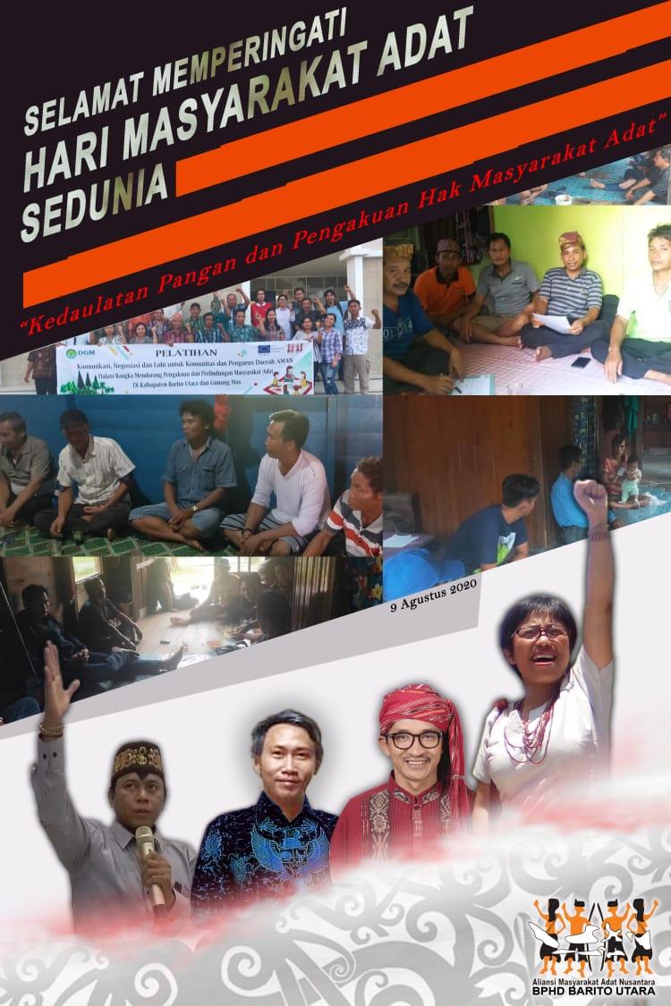 Rayakan Hari Masyarakat Adat Se-dunia Oleh AMAN Barito Utara.