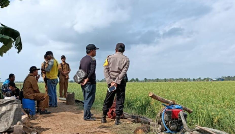 Pantau warga DI Sawah Bripka Gusmanli Himbau Perhatikan Karhutla