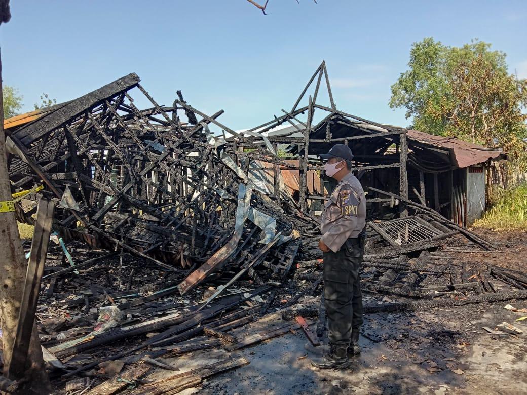 Kebakaran di Jalan Rta Milono, Ini Tindakan Polresta Palangka Raya