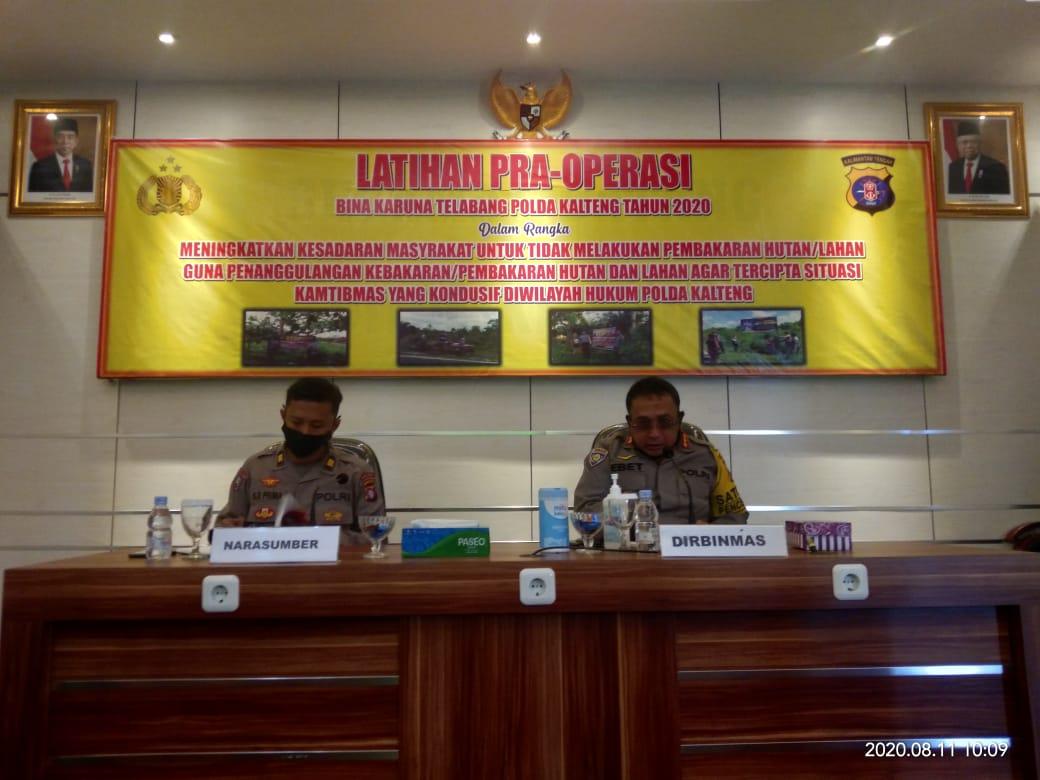 Antisipasi Karhutla, Polda Kalteng Selenggarakan Operasi Bina Karuna Telabang 2020