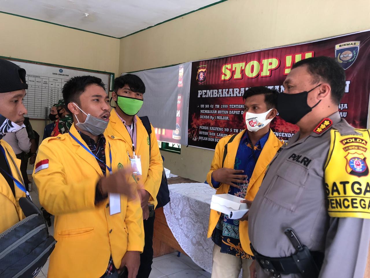 Kelompok 14 KKN-T UPR Ikut Sosialisasi Operasi Bina Telabang 2020