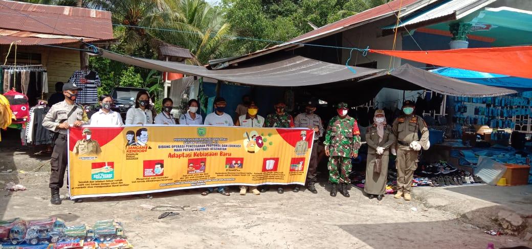 Polsek Banting Sosialisasikan Pergub Kalteng Disiplin Dan Hukum Protokol Kesehatan Covid-19