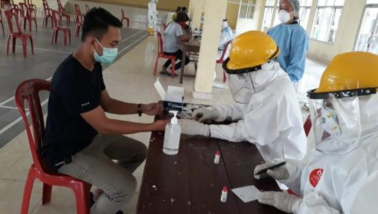 Pemkab Lamsel Lakukan Rapid Test Massal Virus Corona, 1 Orang Reaktif