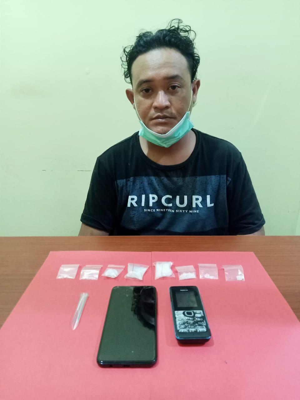 Berantas Narkoba Di Kalteng, Polda Kalteng Amankan Satu Orang Di Jalan Mahir Mahar Kota Palangka Raya