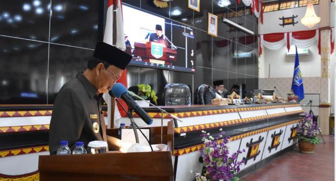 Jawaban Walikota Metro Atas Raperda APBD Perubahan 2020