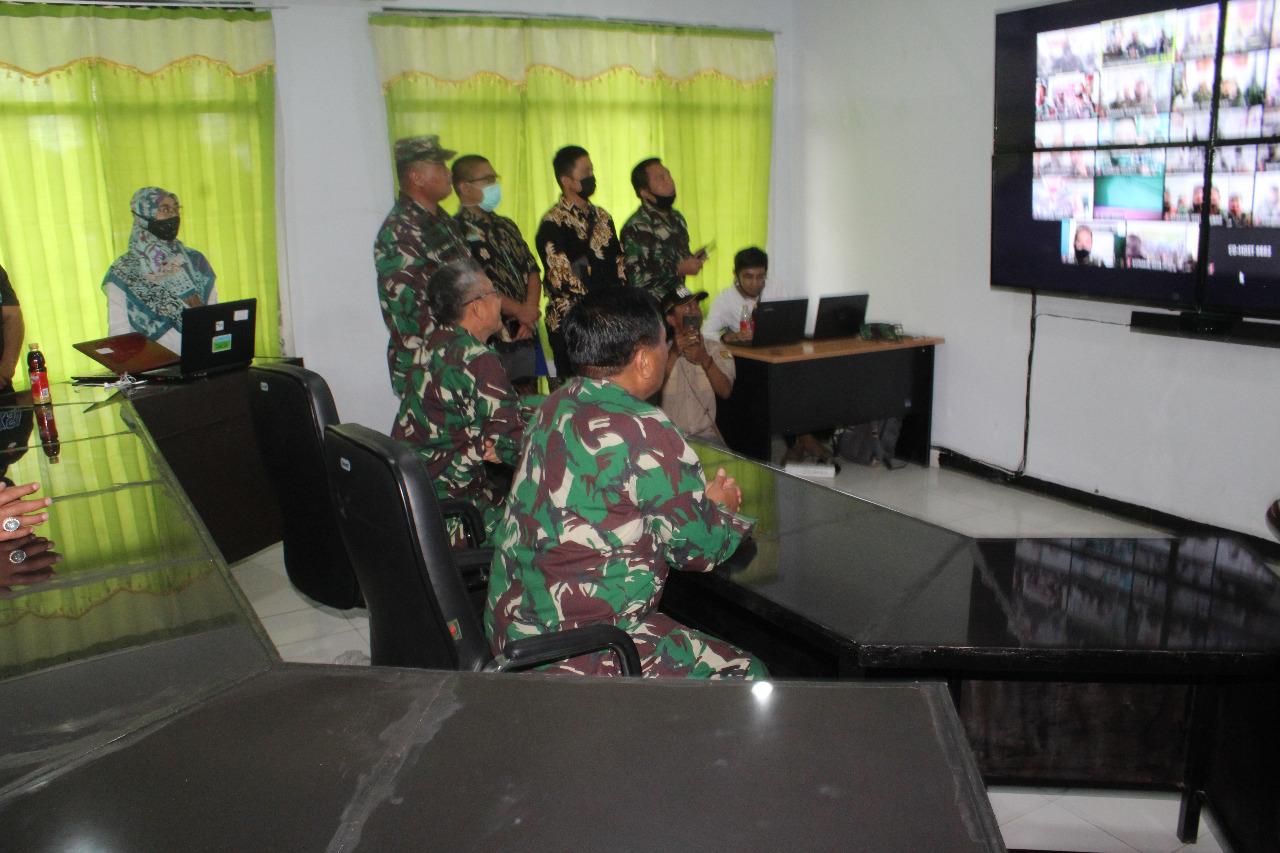Sambut Kunker Pangdam III/Siliwangi, Jajaran Koramil Kodim 0602/Serang Gelar Apel Virtual