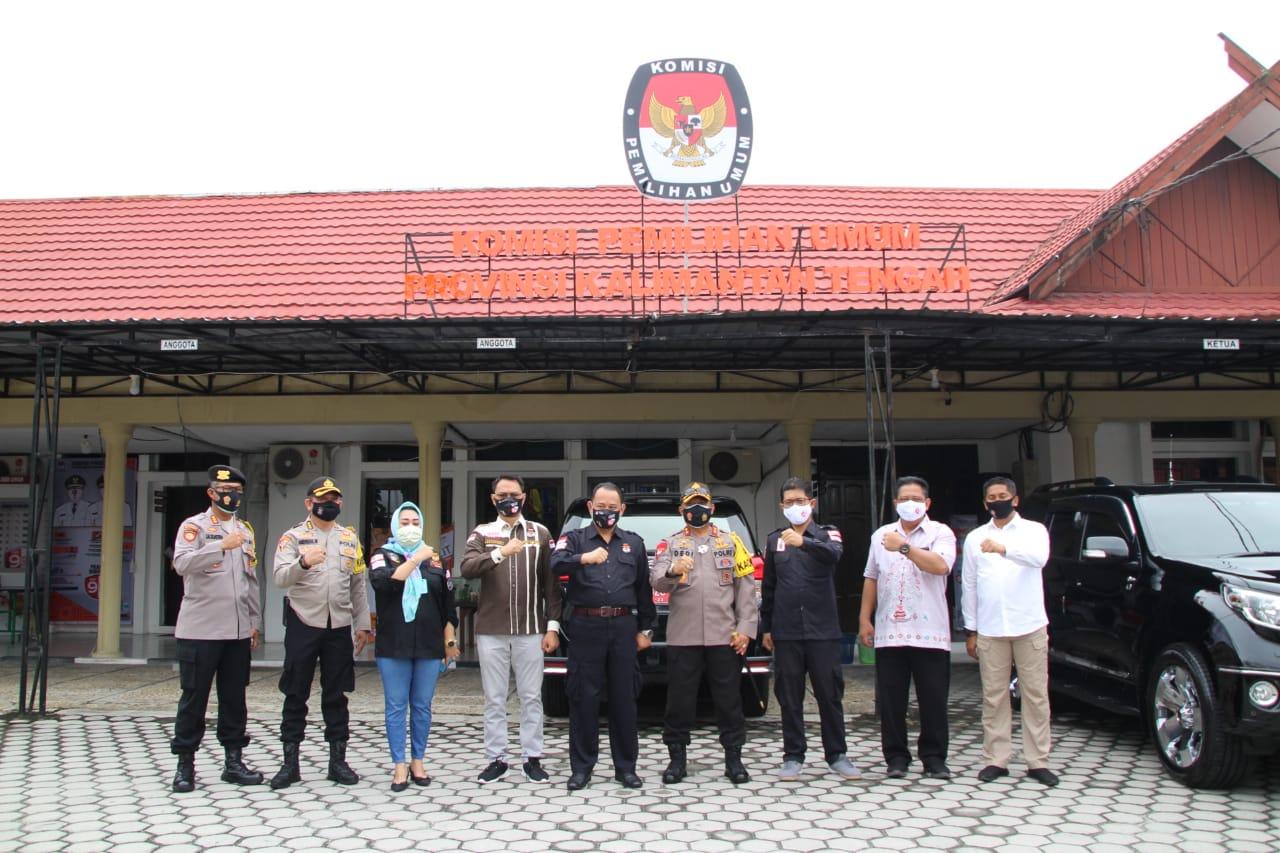 Pastikan Pengamanan Maksimal Pemilu 2020, Kapolda Cek KPU Provinsi Kalteng
